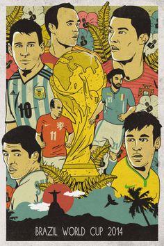 Brazil World Cup 2014 Poster Brazil World Cup, World Cup 2014, Fifa World Cup, Barcelona Soccer, Fc Barcelona, Soccer Crafts, Mens World Cup, Bob Marley, Alex Morgan Soccer