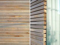 Timber screen horizontal wood slats ideas for 2019 Rainscreen Cladding, Wooden Cladding, Cedar Cladding, Wooden Facade, Exterior Cladding, Wall Cladding, Cladding Ideas, Timber Screens, Timber Slats