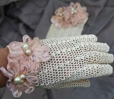 Gorgeous vintage gloves add something special to something old...