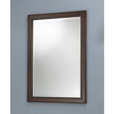 Foremost�32-in H x 23-3/4-in W Hawthorne Dark Walnut Rectangular Bathroom Mirror