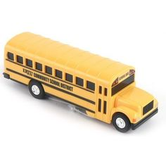 "ERTL Die-Cast Yellow School Bus Toy by ERTL. $6.59. For ages 3+. 5""L x 1 1/4""W x 1 1/2""H."
