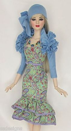 """OOAK THE LAVENDER BLUES...FOR THE 22"""" AMERICAN MODEL. MADE BY SSDESIGNS"""