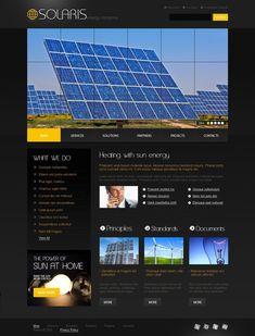 Solaris Solar Website Templates by Mira