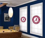 College Football is back! The coolest college man cave ideas EVER are at sportyshades.com. 70 officially-licensed college logos to choose from. AWESOME!