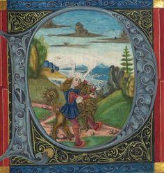 Illuminated Manuscript, Bible (part), Samson kills the lion, Walters Manuscript W.805, fol. 140r by Walters Art Museum Illuminated Manuscripts, via Flickr