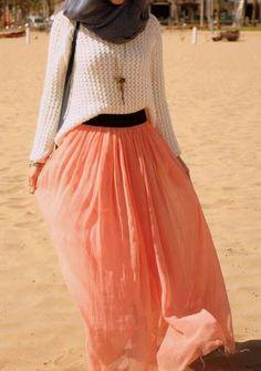 Long dress for hijab