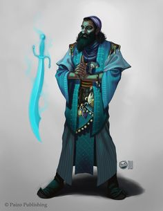 Keleshite Wizard - Pathfinder by DamonWestenhofer on DeviantArt
