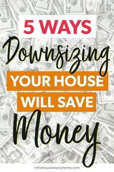 Are you considering downsizing your house to save money? Welcome to the club! Hello, my name is Emma and in 2015 I was exactly where you are now. Save Your Money, Ways To Save Money, Money Tips, Money Saving Tips, How To Make Money, Money Hacks, Downsizing Tips, Home Equity Line, Save For House