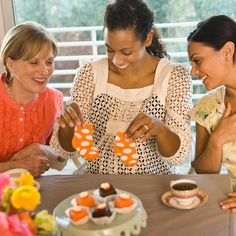 non-traditional Baby Shower activities. Except the tiny food. That one's dumb.