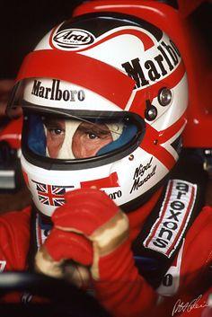 Formula 1, Nigel Mansell, Custom Helmets, Ferrari F1, F1 Drivers, F1 Racing, Car And Driver, F 1, First World
