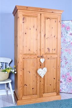 SOLID PINE ALL HANGING FARMHOUSE WARDROBE