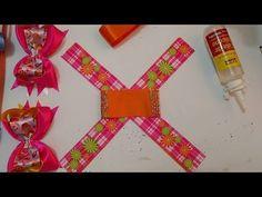 Maneira super fácil de fazer o Laço boutique com laço simples embutido na fita numero 9 - YouTube