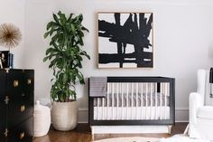 Black and White Nursery Decor . 24 Unique Black and White Nursery Decor . Black and White Nursery Ideas Decor Lovedecor Love Black Crib Nursery, Black White Nursery, Gold Nursery, Chic Nursery, Nursery Neutral, Nursery Room, Nursery Decor, Monochrome Nursery, Nursery Ideas
