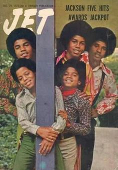 The Jackson Five on the cover of Jet, December Back when the Jacksons were natural looking. The Jackson Five, Jackson Family, Janet Jackson, Jet Magazine, Black Magazine, Ebony Magazine Cover, Magazine Covers, Familia Jackson, Young Michael Jackson