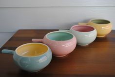 4 x VINTAGE MARTIN BOYD RAMEKINS Guy Martin, Bibs, Pottery, Ceramics, Tableware, Shop, Vintage, Ceramica, Ceramica