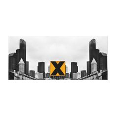 X Marks the Middle Gallery Wrap Canvas