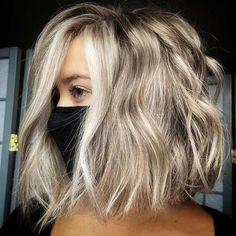 Medium Hair Cuts, Long Hair Cuts, Medium Hair Styles, Curly Hair Styles, Blond Medium Length Hair, Color For Short Hair, Bob Hair Color, Brown Blonde Hair, Shaggy Bob Hairstyles