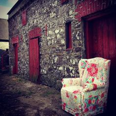 Upcycled Patchwork Chair by Kyle Lane Clonmel #upcycledfurniture #upcycled