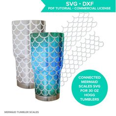 Mermaid scales SVG cutting file for Hogg steel tumbler / mermaid scale tumbler / mermaid pattern SVG / fish scale pattern / circuit / cameo  These connected mermaid scale SVG cutting files are sized and shaped to smoothly wrap around a 30 oz Hogg tumbler and meet at the seams! I