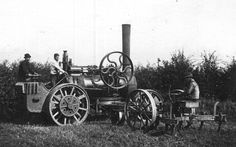 Early Kitson and Hewitson / J.Fowler steam plough at work (K&H works no. 846, built 1861, 10hp). [images/photographs]