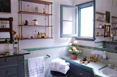 Clean & Simple, charming bathroom of Lake Bell from Vogue