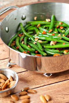All it takes to add gourmet flavor to fresh green beans is nutty brown butter, chopped almonds and a splash of lemon juice. Right at home for both formal dinners and weeknights at home, this @hlikesfood  recipe has got to be on your holiday menu.