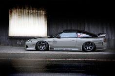 Nissan 200sx drift car slammed in grey