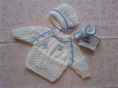 klikněte pro zvětšení... Baby Knitting Patterns, Baby Patterns, Crochet Patterns, Diy Crafts Knitting, Point Mousse, Baby Pullover, Craft Free, Knitted Dolls, Baby Sweaters