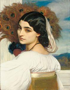 フレデリック・レイトン《 パヴォニア》  1858-59年、油彩/カンヴァス、53×41.5cm、個人蔵