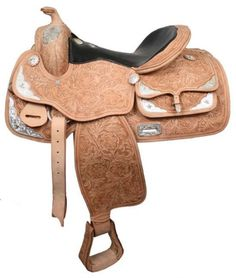 "16"" Western Silver Show Saddle  Rare and Expensive Styling  Silver Plated Saddle Horn  Fully Tooled"