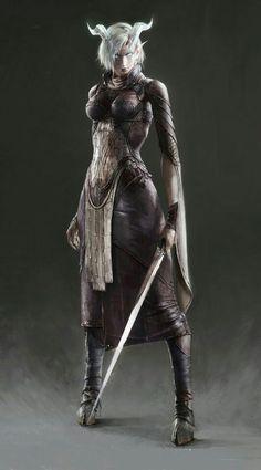Tiefling Shadowdancer Rogue - Pathfinder PFRPG DND D&D d20 fantasy