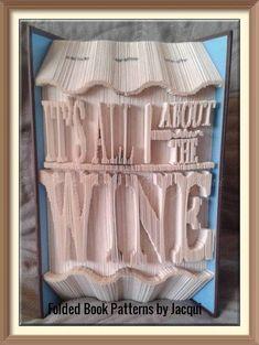 All About The Wine. Book Folding Pattern by JHBookFoldPatterns on Etsy