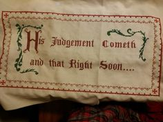 A sampler from Shawshank Redemption that I was commissioned to do as a stitch jockey.