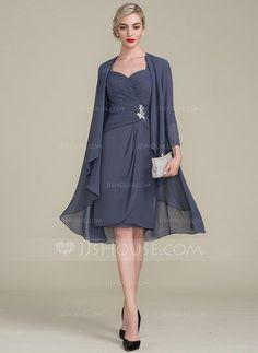 Tubo Coquetel Tecido de seda Vestido para a mãe da noiva com Pregueado Beading Apliques de Renda lantejoulas