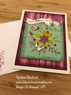 Mint macaron,, Rich Razzelberry, Share What You Love Suite, watercolor embossed card