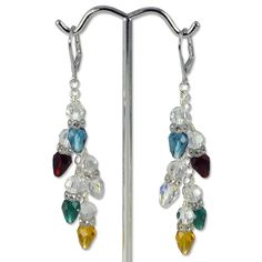 Multi-Color Light Bulb Earring Project | Swarovski Christmas Earrings
