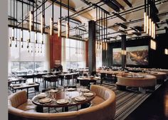 The american institute of architects restaurant+cafe+bar design ресторан, р Cafe Restaurant, Luxury Restaurant, Restaurant Lighting, Restaurant Interior Design, Cafe Bar, Bar Lounge, Commercial Design, Commercial Interiors, Restaurants