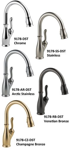 Delta Leland 9178-DST best faucets review for pull down comes in brushed finish arctic