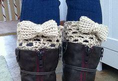 Bow Boot Cuffs free pattern