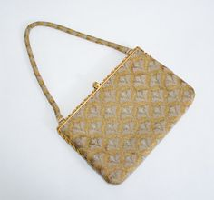 1950s vintage handbag / french beaded purse / by PoppycockVintage