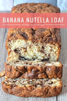 Nutella Loaf Banana Nutella Loaf - Sweet banana bread swirled with nutella. The perfect mid-morning snack.Banana Nutella Loaf - Sweet banana bread swirled with nutella. The perfect mid-morning snack. Banana And Nutella Cake, Nutella Bread, Nutella Brownies, Nutella Snacks, Nutella Recipes, Banana Recipes Baking, Nutella Deserts, Baking Desserts, Health Desserts