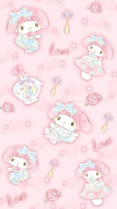 My Melody. 🌸 Another My Melody in wonderland so cute.