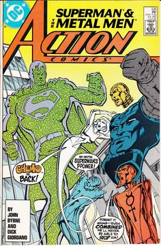 Action Comics #590 (July 1987)  Superman & The Metal Men  Cover, Art & Story by John Byrne