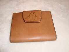 Nice Vintage Rolf's Bifold Camel Brown Leather Wallet W/ Kiss Lock Coin Purse #Rolfs #BifoldwithKissLockCoinPurse