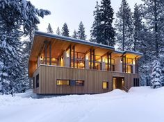 Wonderful modern cabin, The Suger Bowl Residence, by John Maniscalco Architecture.