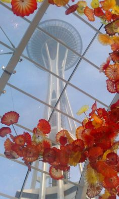 Seattle Space Needle from the Chihuly museum of glass