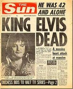 King Elvis is Dead! I remember this vividly. My mom and all of my aunts and cousins gathered at grandmas. My aunts were all in tears,