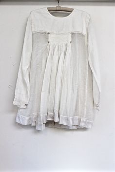 smocked top with button detail