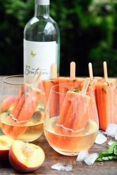 Peach and Basil Wine Ice Pops - Boozy Popsicles perfect for warm summer afternoons! Chocolate Slice, Dessert Chocolate, Chocolate Cheesecake, Cherry Ripe Slice, Wine Popsicles, No Bake Slices, Raw Pistachios, Blueberry Recipes, Stone Fruit