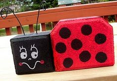 Craft-O-Maniac: Saturday Spotlight~ Patio Paver Lady BUG's